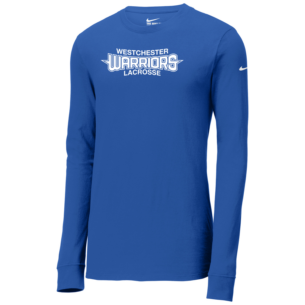 Westchester Warriors Nike Core Cotton Long Sleeve Tee