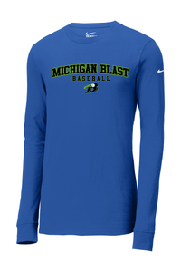 Michigan Blast Elite Baseball Nike Dri-FIT Long Sleeve Tee