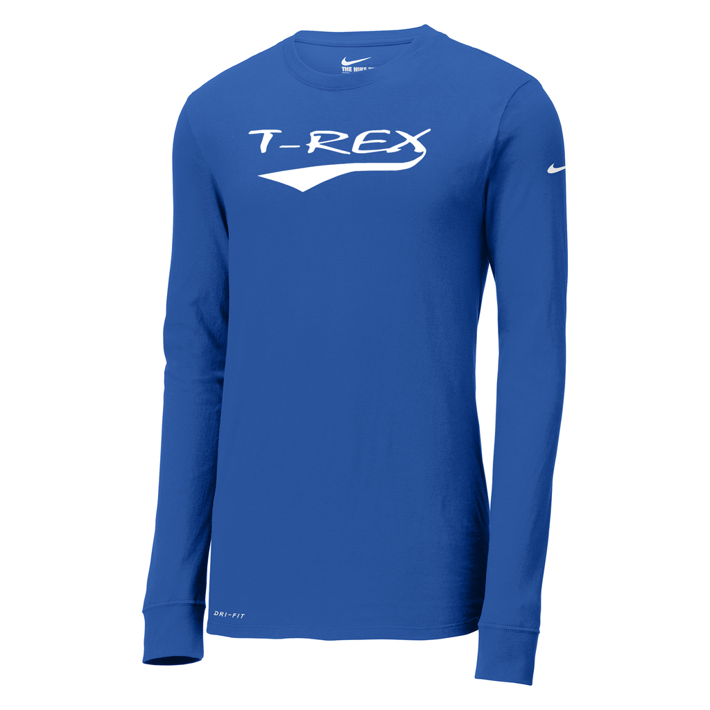T-Rex Baseball Nike Dri-FIT Long Sleeve Tee