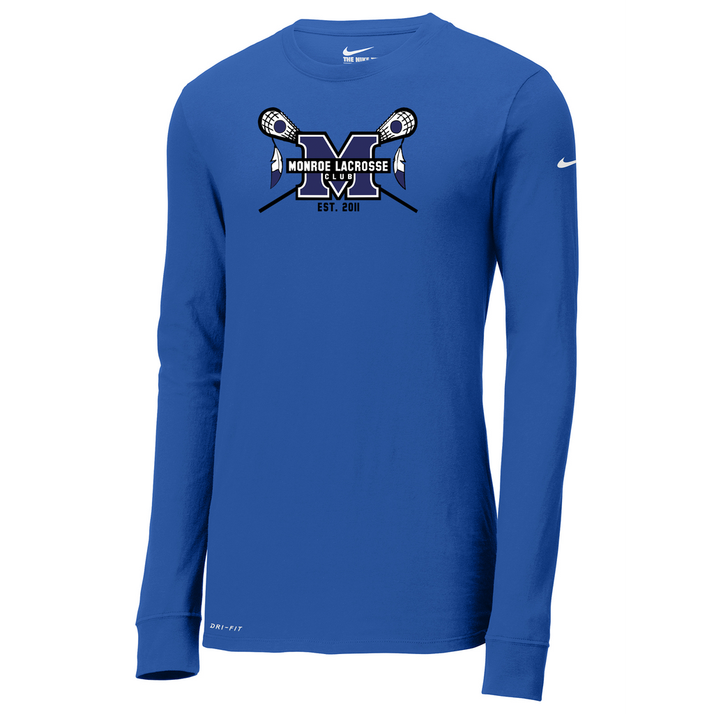 Monroe Braves Nike Dri-FIT Long Sleeve Tee