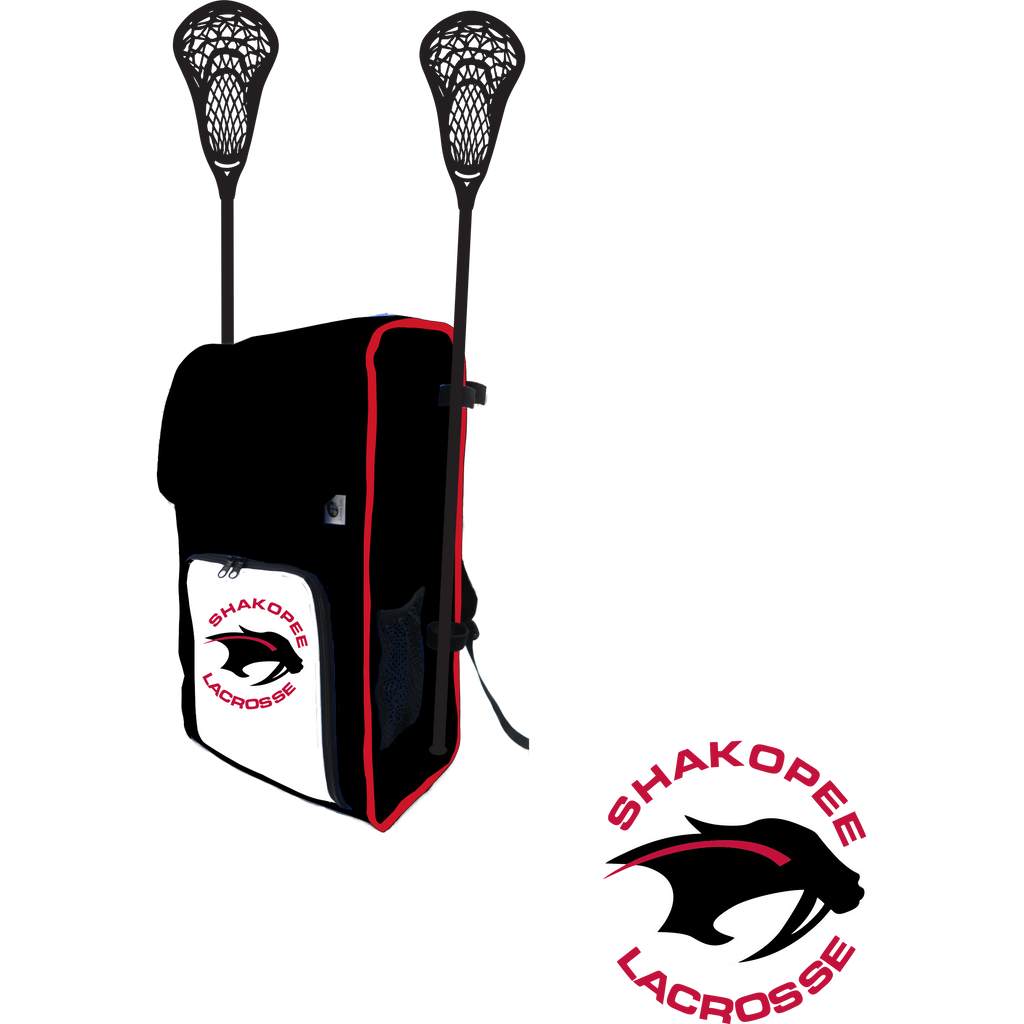 Shakopee Lacrosse Side Stick Holder Large Backpack