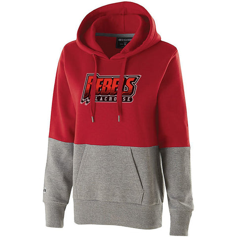 Rebels Lacrosse Women's Scarlet/Heather Colorblock Hoodie