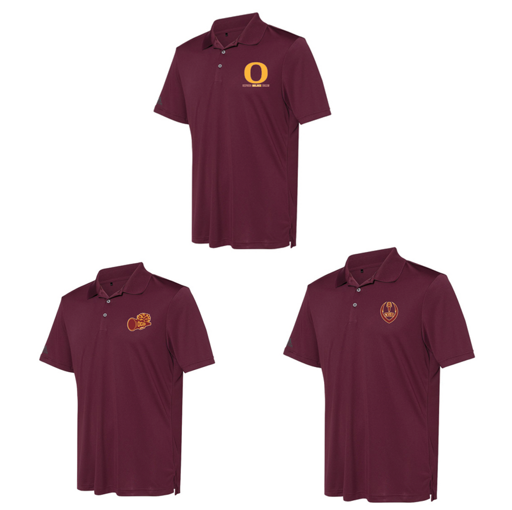 Oxford Golden Bears Adidas Performance Sport Polo