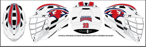 Oak Mtn. High School Lacrosse Helmet Wrap