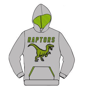 Raptors Lacrosse Sweatshirt w/ Sublimated Hood