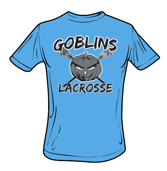 Goblins Lacrosse CottonTouch Performance T-Shirt (Grey Logo)