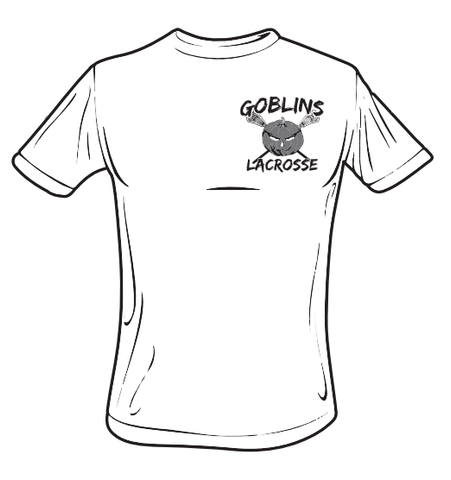 Goblins Lacrosse Performance T-Shirt (Small Grey Logo)
