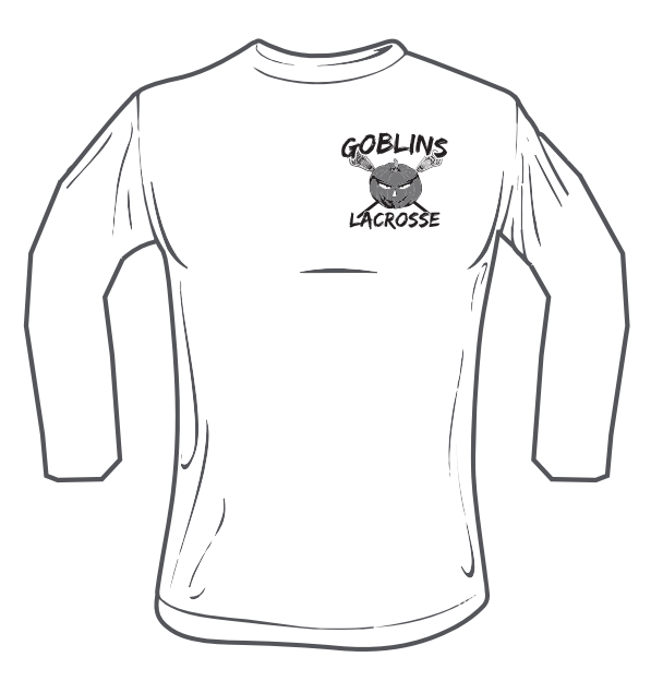 Goblins Lacrosse Long Sleeve Performance Shirt (Grey Logo)
