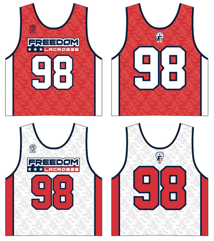 Freedom Lacrosse Sublimated Reversible Pinnie