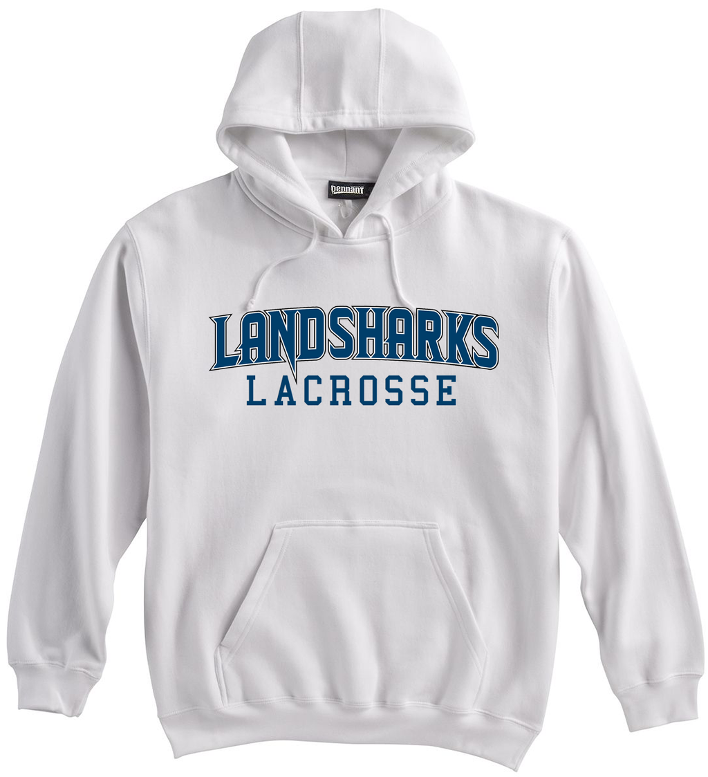 Bay Area Landsharks White Sweatshirt Text Logo