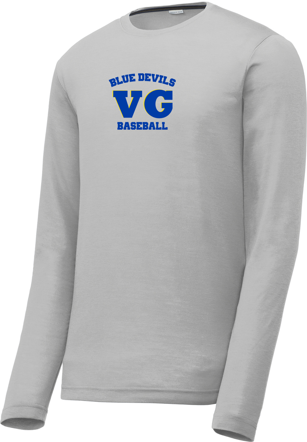 Blue Devils Baseball Long Sleeve CottonTouch Performance Shirt