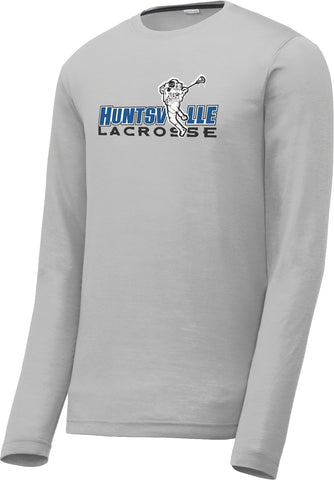 Huntsville Lacrosse Silver Long Sleeve CottonTouch Performance Shirt