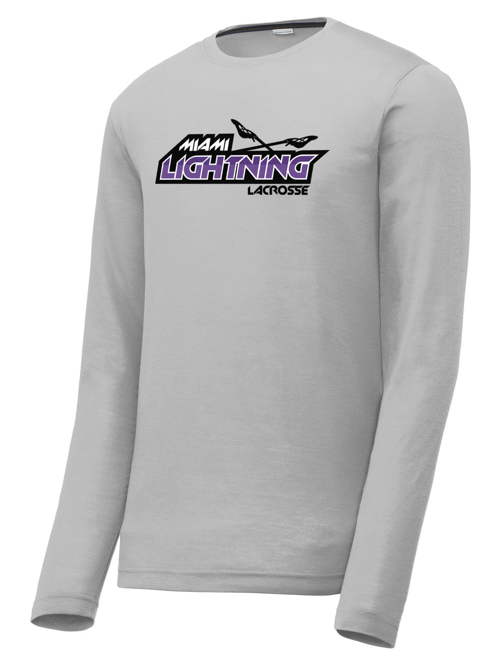 Miami Lightning Silver Long Sleeve CottonTouch Performance Shirt