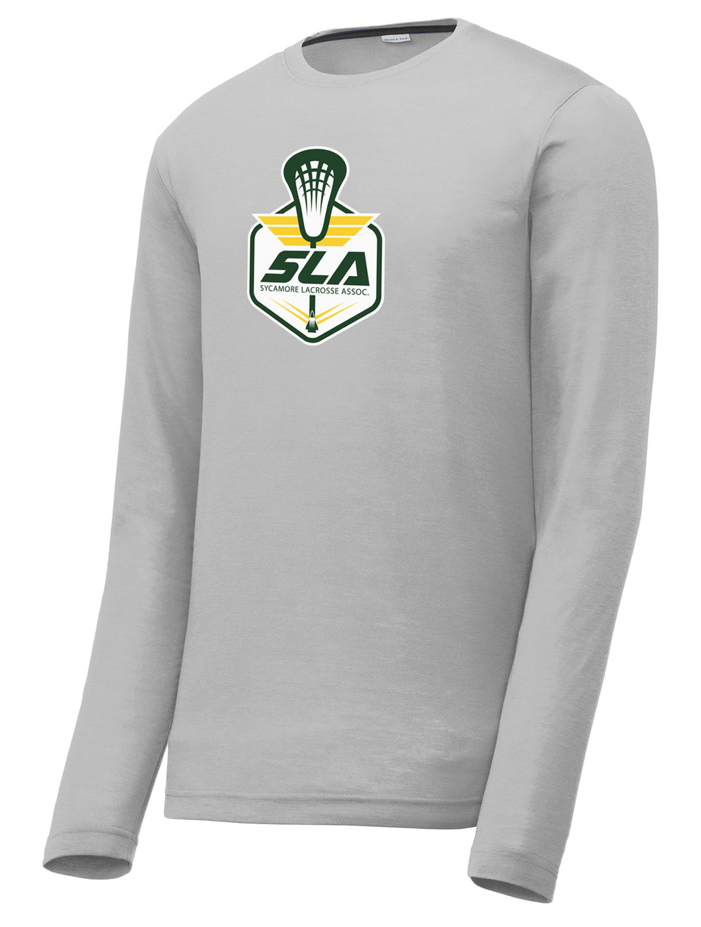 Sycamore Lacrosse Association Silver Long Sleeve CottonTouch Performance Shirt