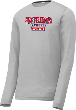 Augusta Patriots Silver Long Sleeve CottonTouch Performance Shirt