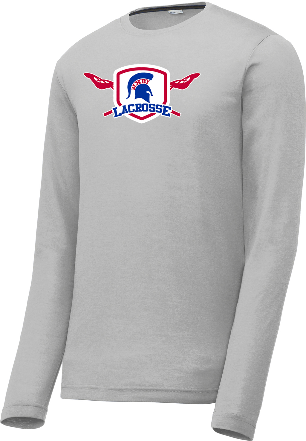 Bixby Lacrosse Silver Long Sleeve CottonTouch Performance Shirt