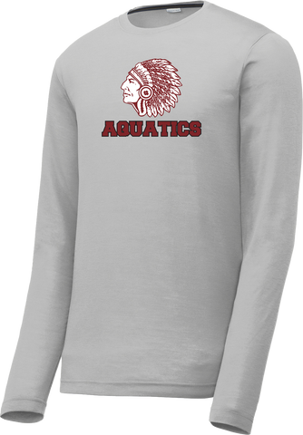 Farmington Aquatics Silver Long Sleeve CottonTouch Performance Shirt