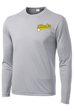 Hawks Baseball Long Sleeve Performance Shirt