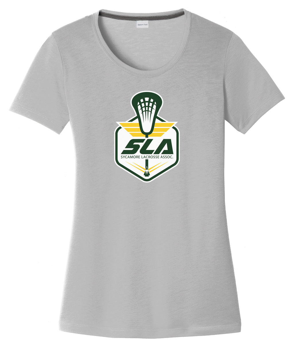 Sycamore Lacrosse Association Women's Silver CottonTouch Performance T-Shirt