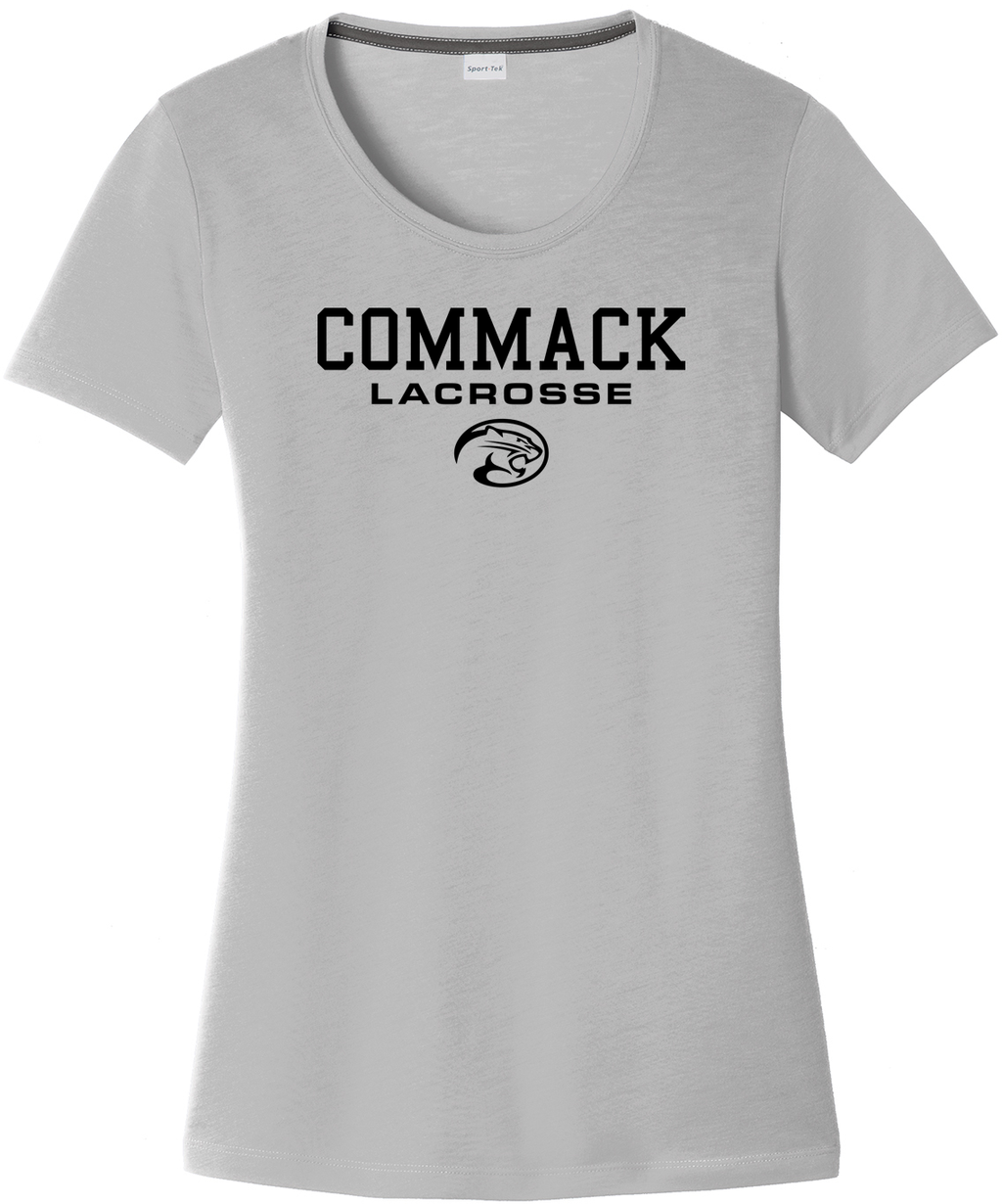 Commack Youth Lacrosse Women's Silver CottonTouch Performance T-Shirt