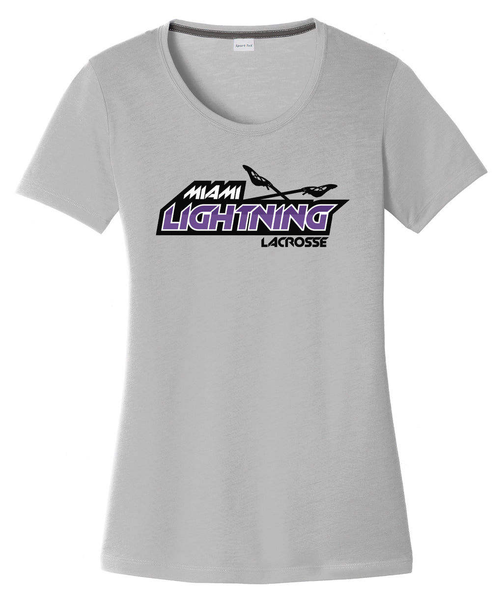 Miami Lightning Women's Silver CottonTouch Performance T-Shirt