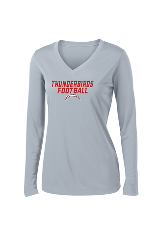 Accompsett Middle School Women's Silver Long Sleeve Performance Shirt