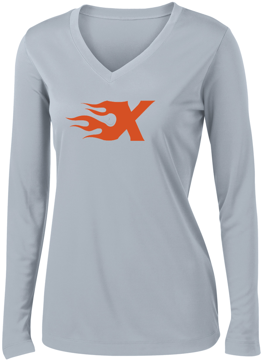 Xtreme Lacrosse Grey Women's Long Sleeve Performance Shirt