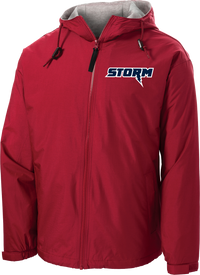 Oak Mountain Youth Lacrosse Red Hooded Jacket