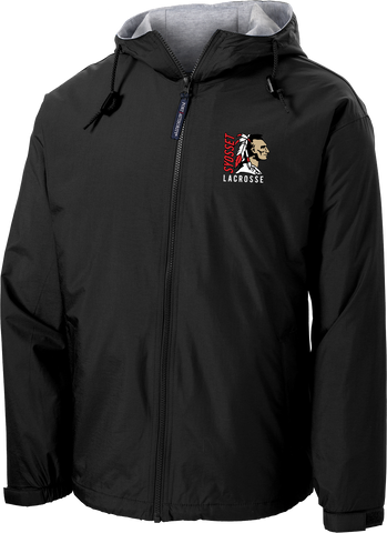 Syosset Lacrosse Black Hooded Jacket
