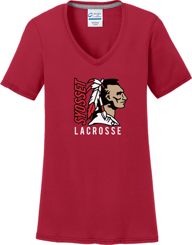 Syosset Lacrosse Women's Red T-Shirt