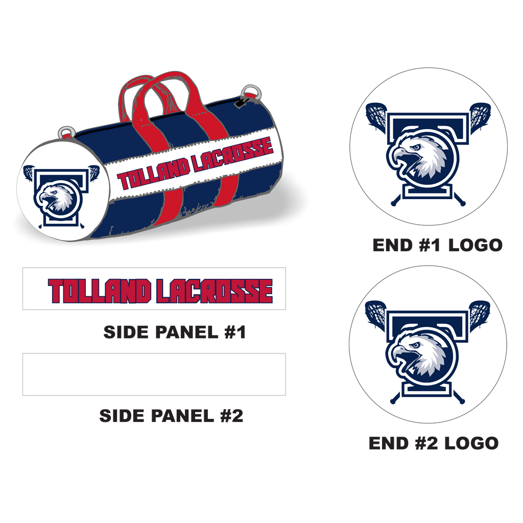 Tolland Lacrosse Sewn-In Stick Sleeve XL Lacrosse Duffel Bag