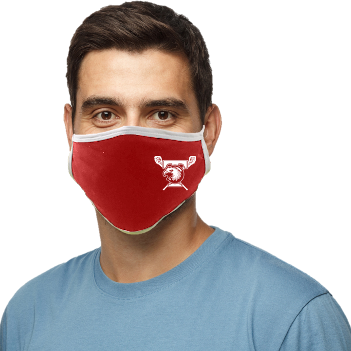 Tolland Lacrosse Blatant Defender Face Mask - Red