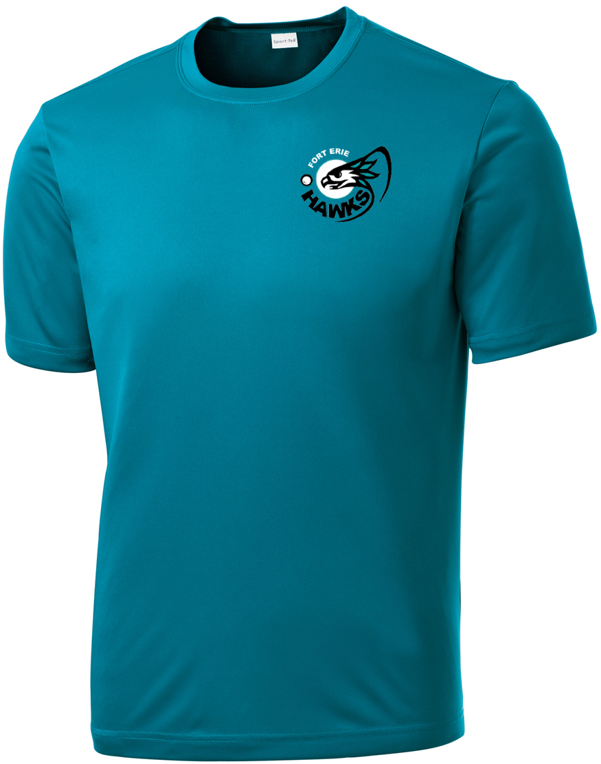 Fort Erie Hawks Men's Tropic Blue Performance T-Shirt