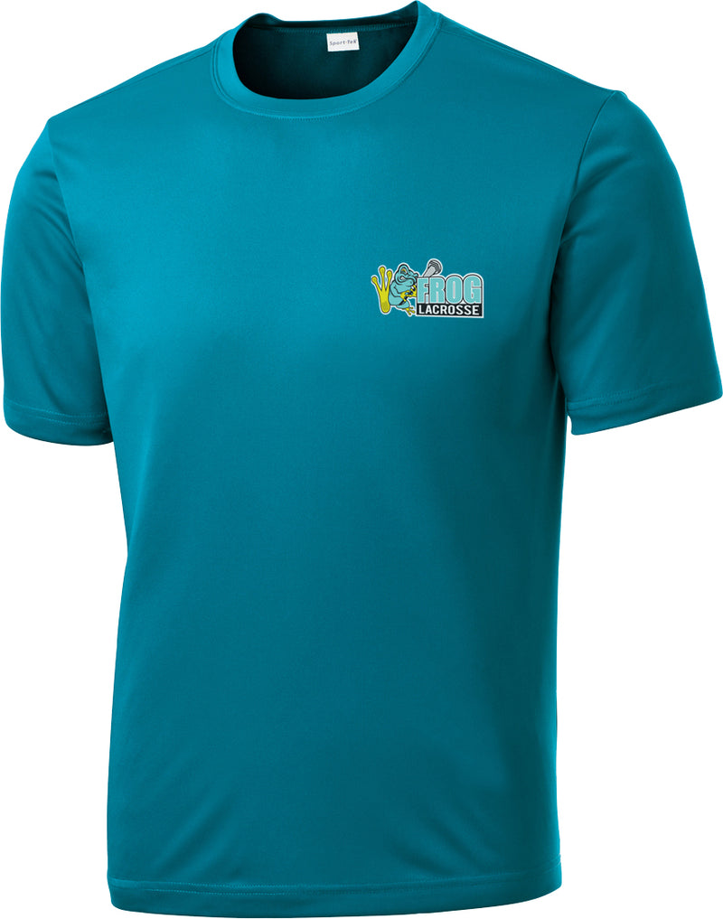 Frog Girls Lacrosse Tropic Blue Performance T-Shirt
