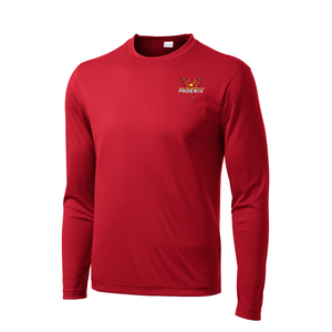 Cranston Lacrosse Men's Red Long Sleeve Performance Shirt