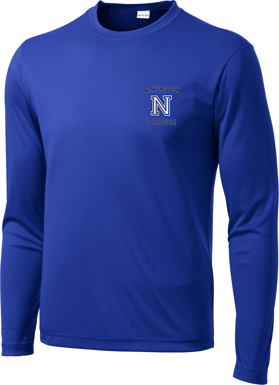 Newington Lacrosse Royal Long Sleeve Performance Shirt