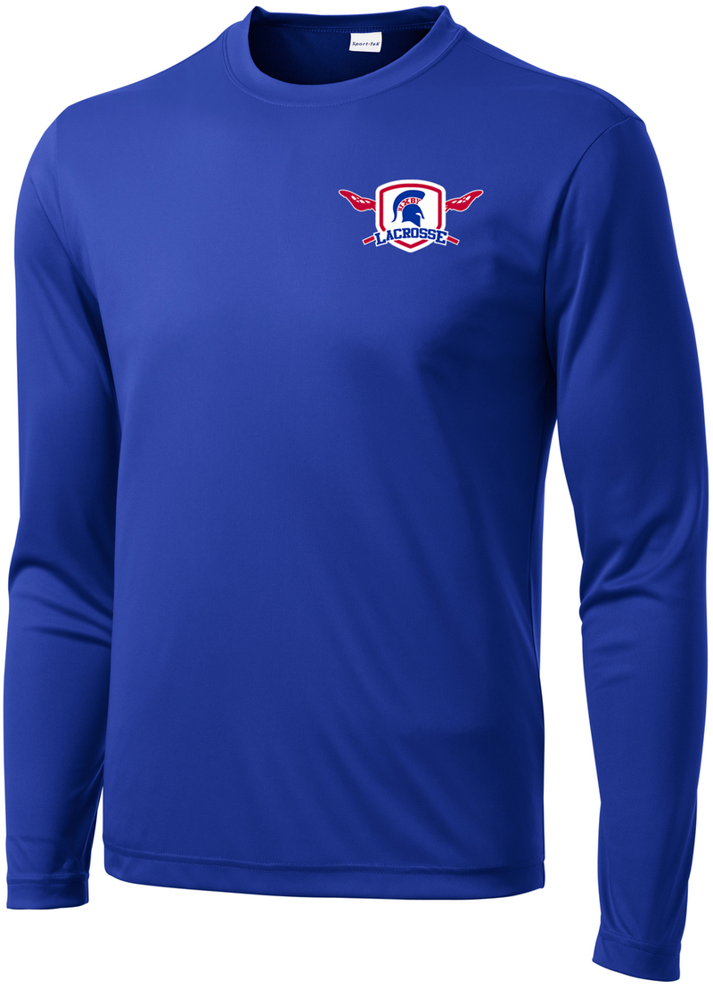 Bixby Lacrosse Royal Blue Long Sleeve Performance Shirt