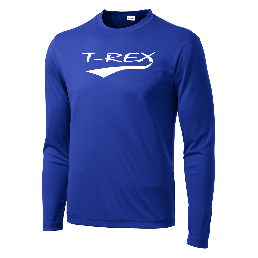 T-Rex Baseball Long Sleeve Performance Shirt