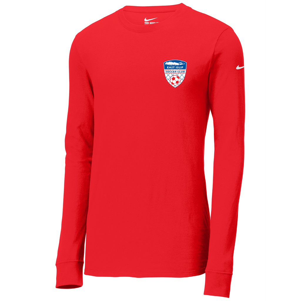 East Islip Soccer Club Nike Core Cotton Long Sleeve Tee
