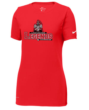 Lancaster Legends Lacrosse University Red Nike Ladies Dri-FIT Tee