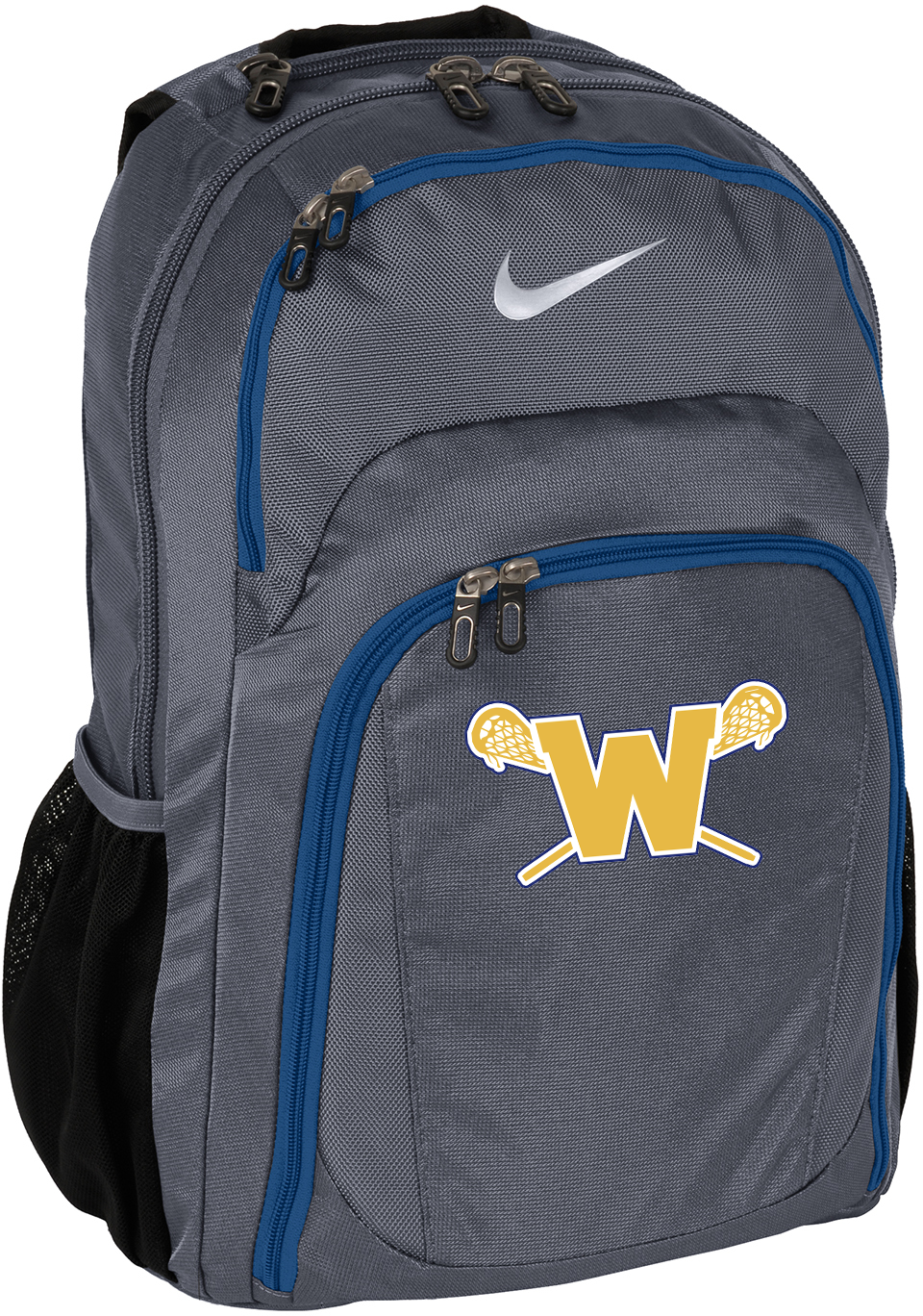 Webster Lacrosse Grey/Blue  Nike Backpack