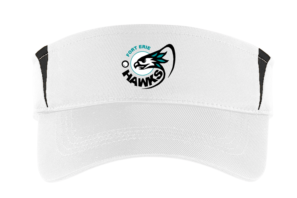 Fort Erie Hawks White/Black Visor