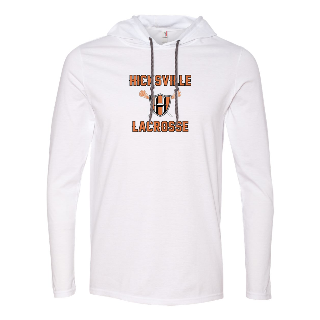 Hicksville Lacrosse Hooded Long Sleeve Tee