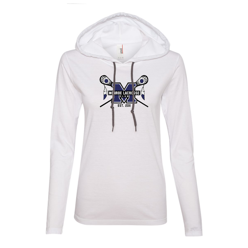 Monroe Braves Women's Hooded Long Sleeve Tee
