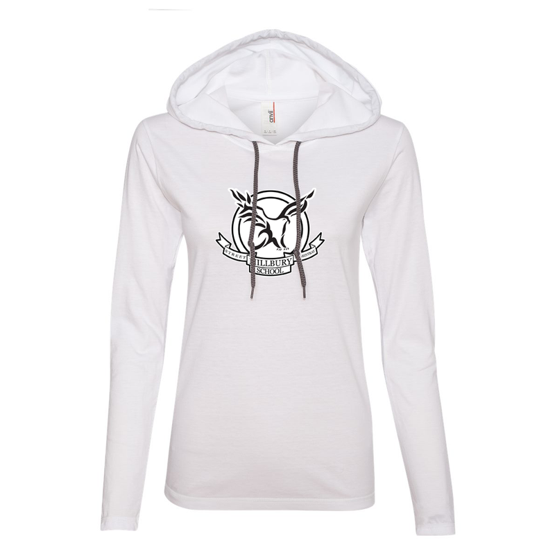 Millbury Street Elementary Women's Hooded Long Sleeve Tee