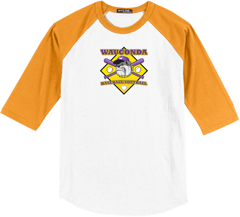 Wauconda Baseball & Softball 3/4 Sleeve Baseball Shirt
