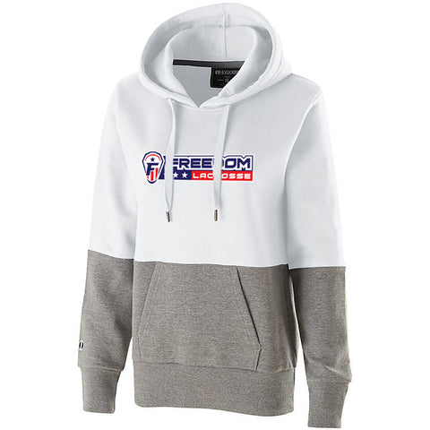 Freedom Lacrosse Women's White/Heather Colorblock Hoodie