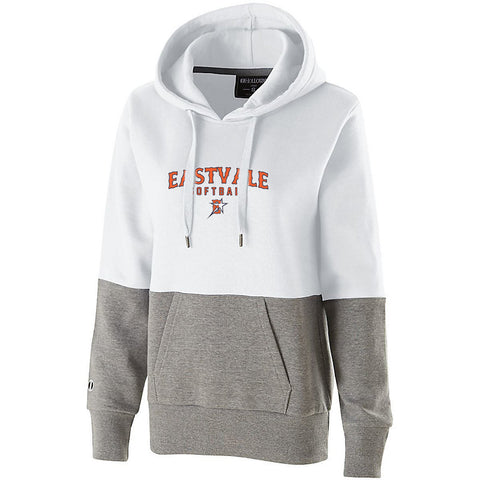 Eastvale Girl's Softball Women's Colorblock Hoodie