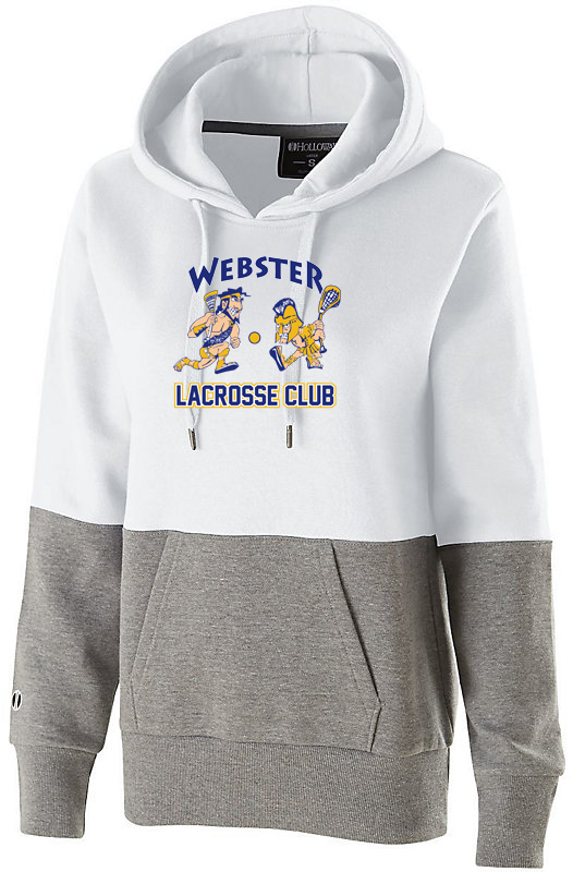 Webster Lacrosse White/Grey Women's Colorblock Hoodie