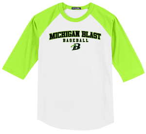 Michigan Blast Elite Baseball 3/4 Sleeve Baseball Shirt